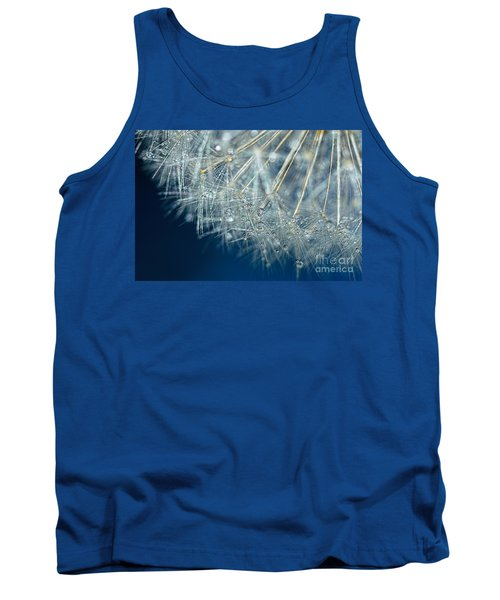 Blue Dandelion Dew By Kaye Menner Tank Top