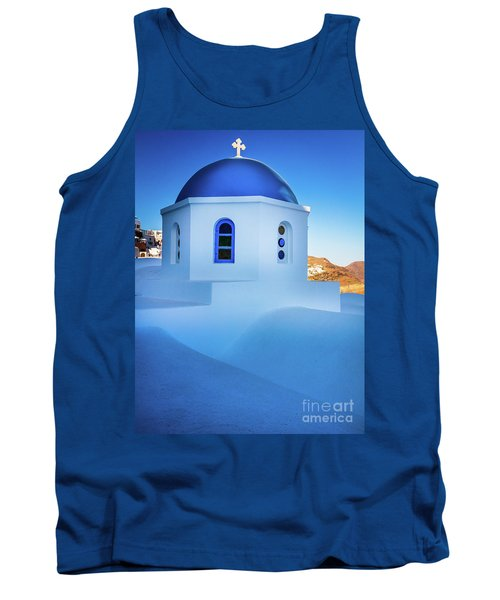 Blue Domed Chapel Tank Top