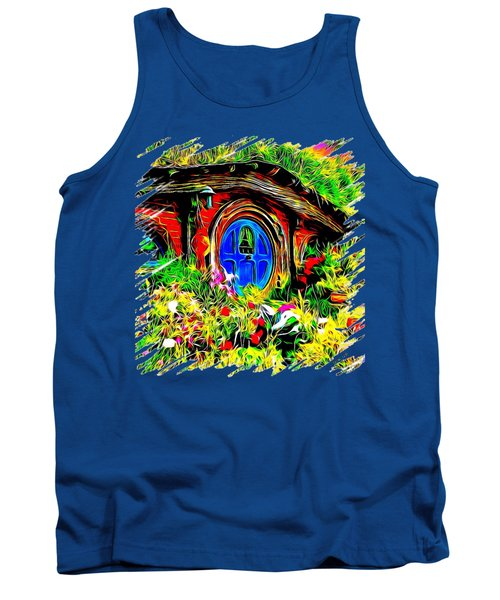 Blue Door Hobbit House-t Shirt Tank Top by Kathy Kelly