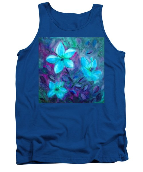 Blue Flowers Tank Top