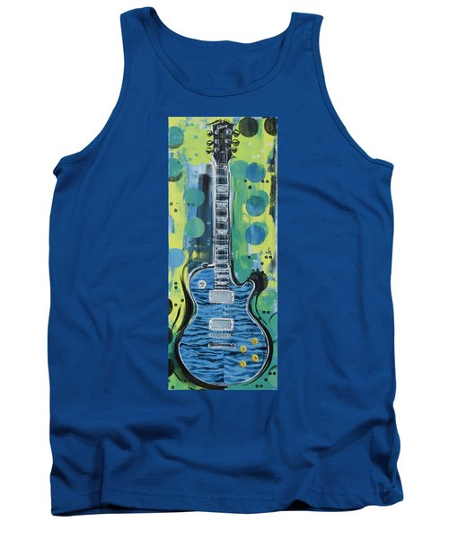 Blue Gibson Guitar Tank Top