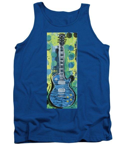 Blue Gibson Guitar Tank Top