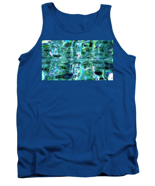 Blue Green Abstract 091015 Tank Top