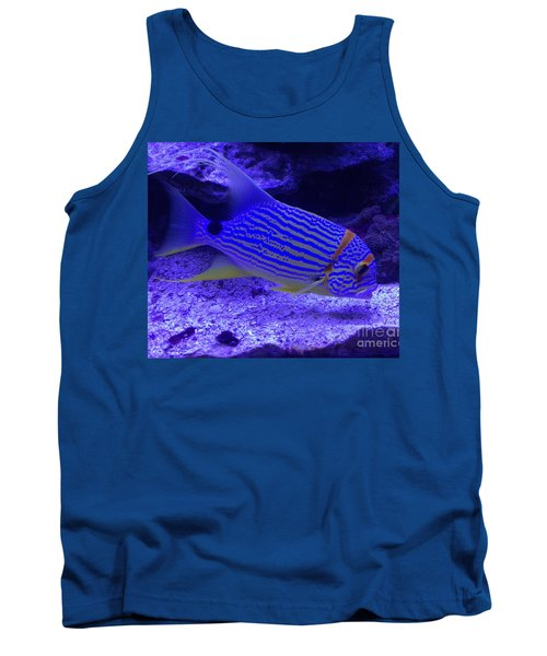 Tank Top featuring the photograph Blue Fish Groupie by Richard W Linford