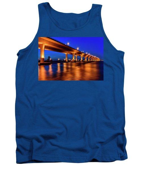 Blue Hour At Roosevelt Bridge In Stuart Florida  Tank Top