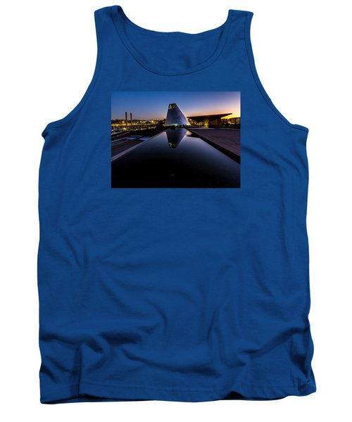 Blue Hour Reflections On Glass Tank Top