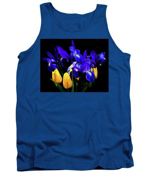 Blue Iris Waltz By Karen Wiles Tank Top by Karen Wiles