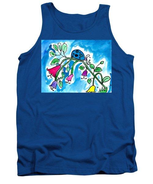 Blue Ladybug Tank Top