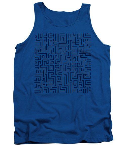 Blue Maze Tank Top