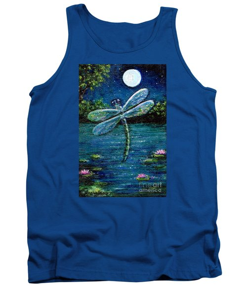 Blue Moon Dragonfly Tank Top