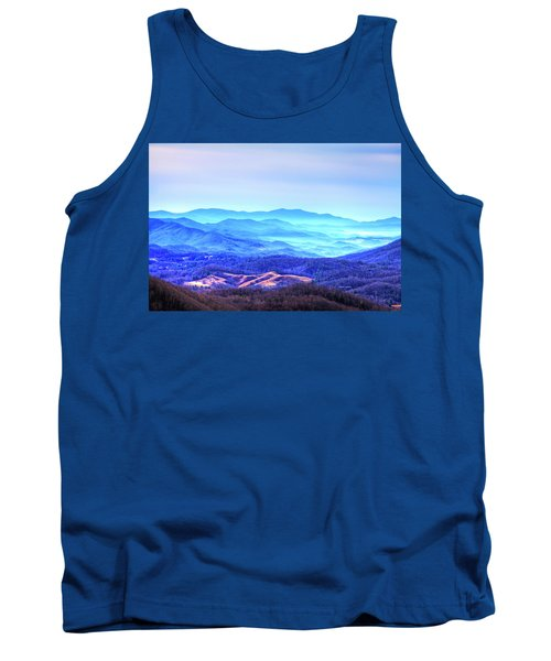 Blue Mountain Mist Tank Top by Dale R Carlson