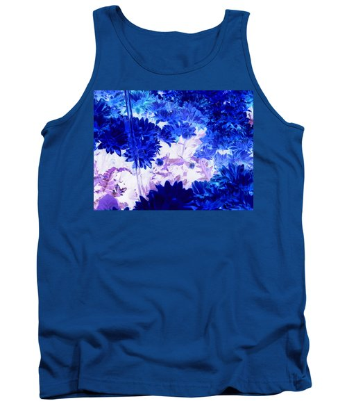 Blue Mums And Water Tank Top