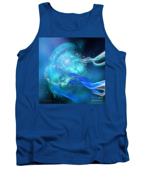 Blue Nebula Tank Top