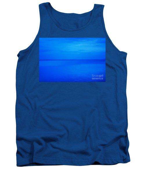Blue Ocean Twilight Tank Top by Randy Steele