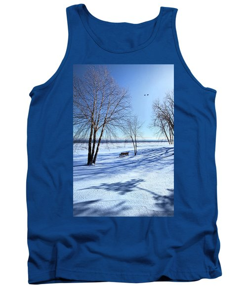 Tank Top featuring the photograph Blue On Blue by Phil Koch