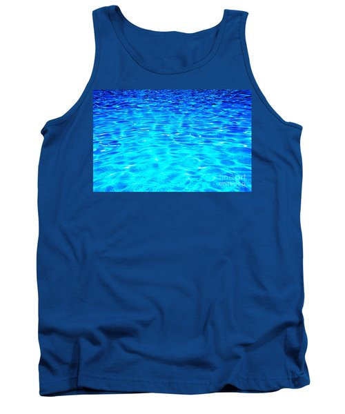 Tank Top featuring the photograph Blue Or Green by Ramona Matei
