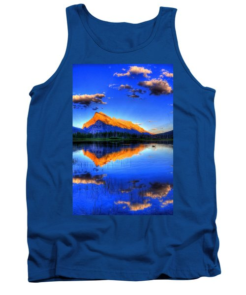 Blue Orange Mountain Tank Top