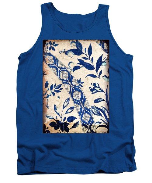 Blue Oriental Vintage Tile 04 Tank Top