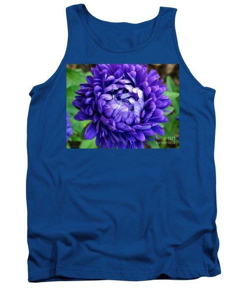 Blue Petals Tank Top by Gena Weiser