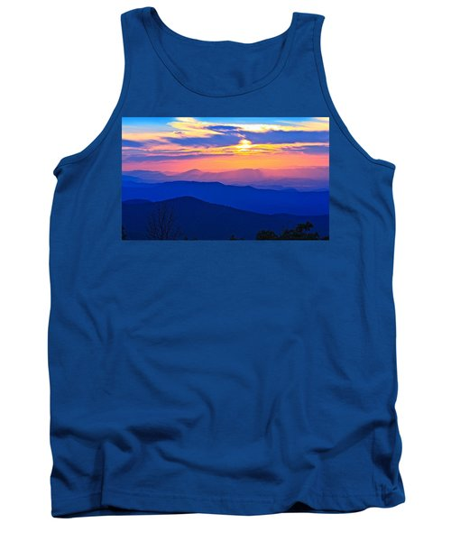 Blue Ridge Parkway Sunset, Va Tank Top