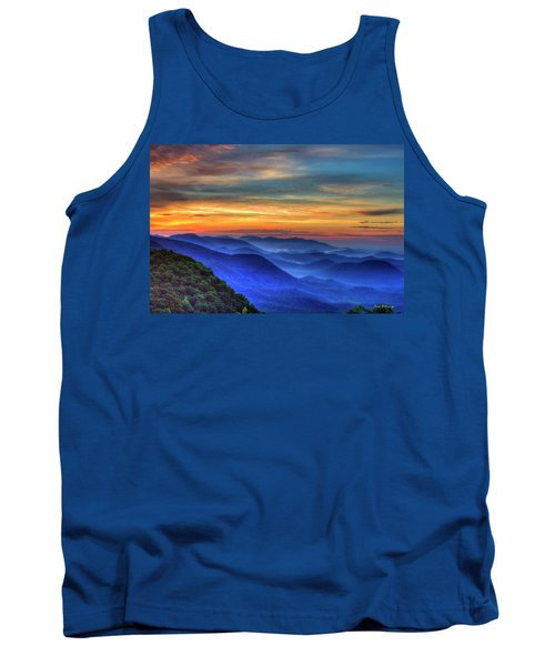 Tank Top featuring the photograph Blue Ridges 2 Pretty Place Chapel View Great Smoky Mountains Art by Reid Callaway