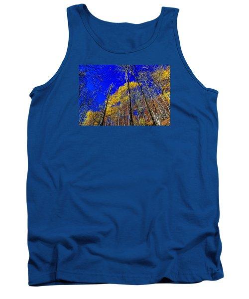Blue Sky In Fall Tank Top