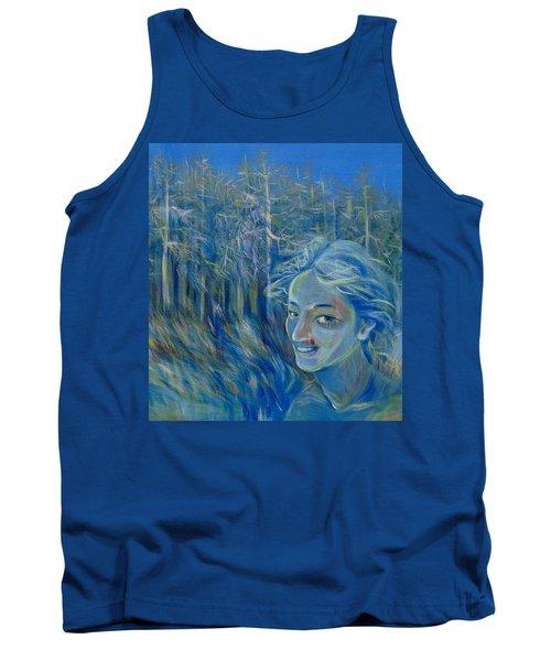 Blue Spring Tank Top by Anna  Duyunova