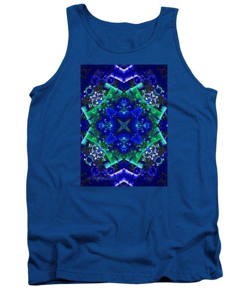 Blue Star Mandala Tank Top