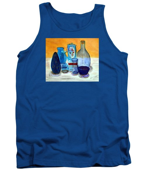 Blue Still Life Tank Top
