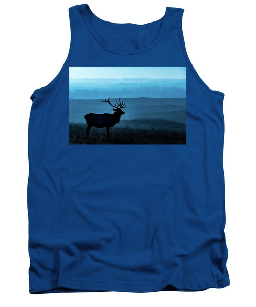 Blue Sunrise Tank Top by Jay Stockhaus
