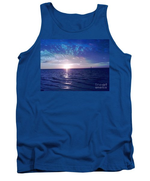 Tank Top featuring the photograph Blue Sunset by Vicky Tarcau