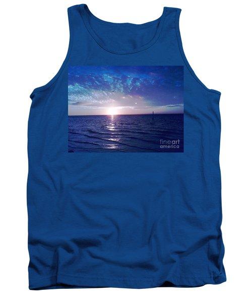 Blue Sunset Tank Top by Vicky Tarcau