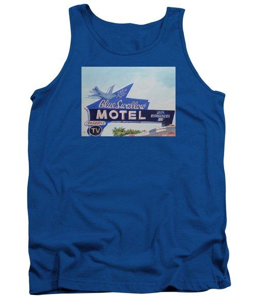 Blue Swallow Tank Top