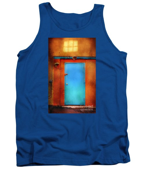 Blue Taos Door Tank Top by Craig J Satterlee