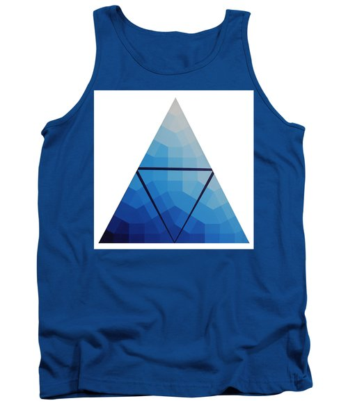 Blue Triangle - Wave Of Blue - Image #10 Tank Top by Peter Mooyman