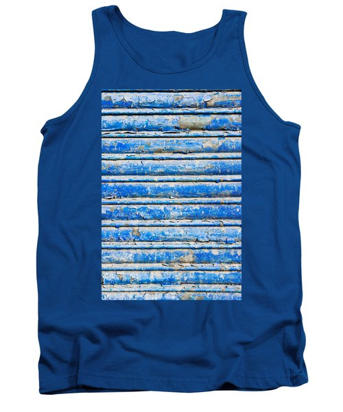 Blue Weathered Metal  Tank Top