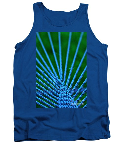 Blue Weave Tank Top by Xn Tyler