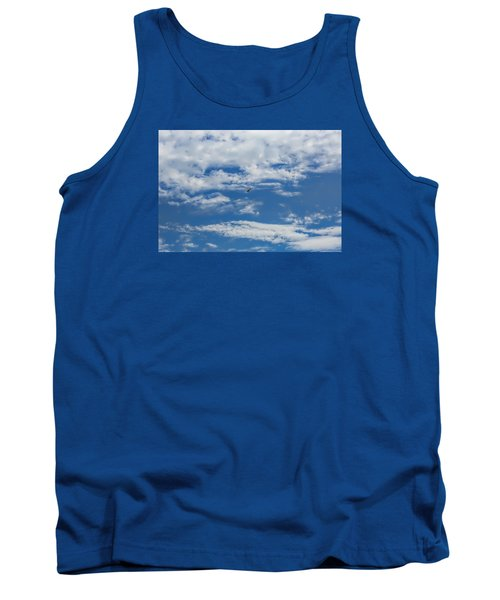 Tank Top featuring the photograph Blue White by Leif Sohlman