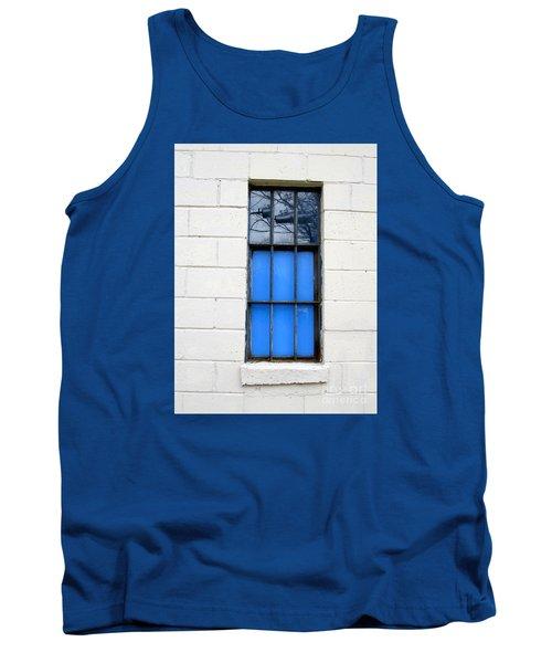 Blue Window Panes Tank Top by Sandra Church