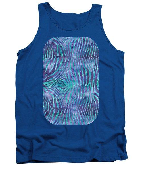 Blue Zebra Print Tank Top
