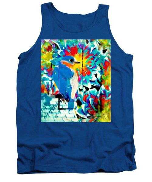 Bluebird Pop Art Tank Top