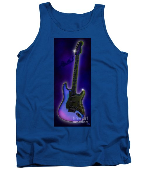 Tank Top featuring the digital art Blues  by Nick Gustafson