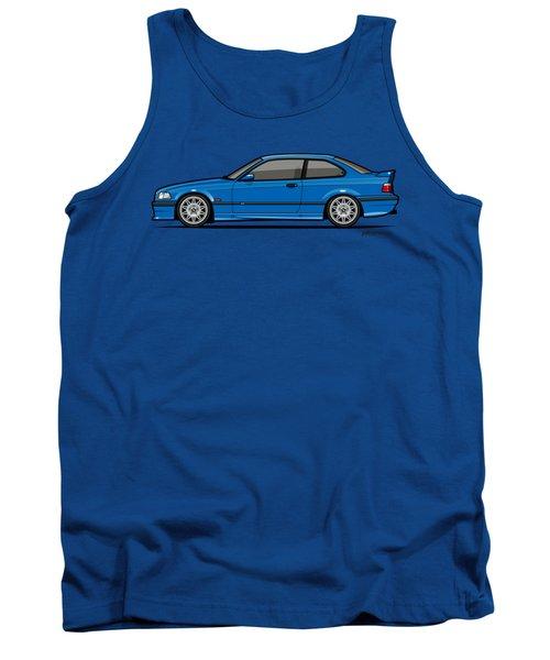 Bmw 3 Series E36 M3 Coupe Estoril Blue Tank Top