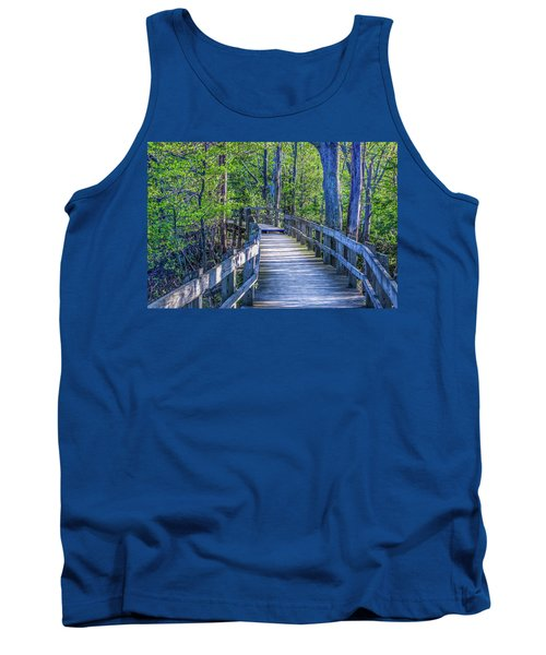 Boardwalk Going Into The Woods Tank Top