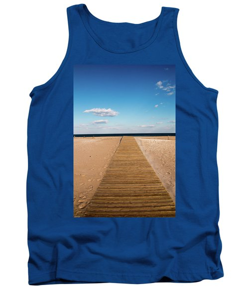 Boardwalk To The Ocean Tank Top