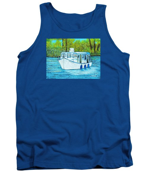 Boat On The River Tank Top by Reb Frost