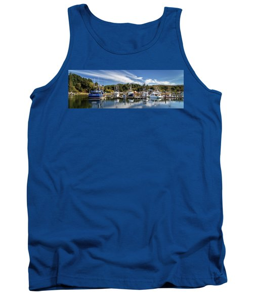 Tank Top featuring the photograph Boats In Winchester Bay by James Eddy