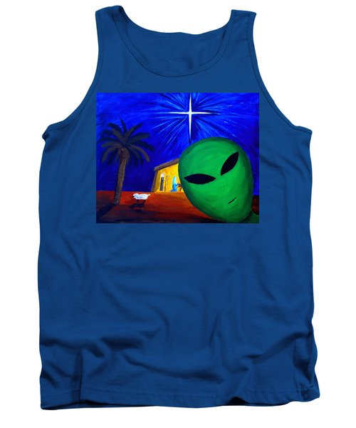 Tank Top featuring the painting Bob At The Manger by Lola Connelly