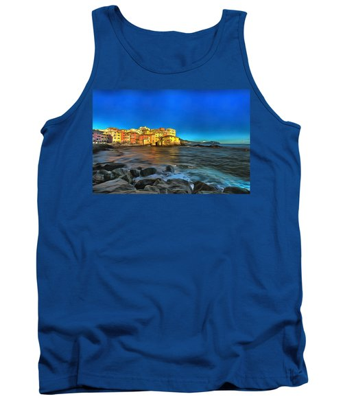 Boccadasse Beach On An Autumn Bright Sunny Day Tank Top