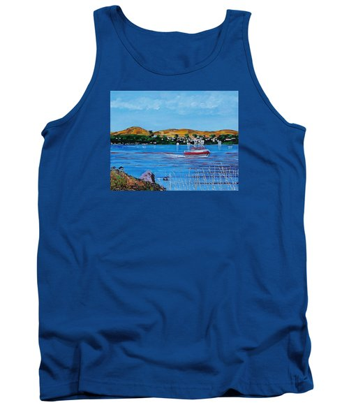 Bodega Bay From Campbell Cove Tank Top by Mike Caitham